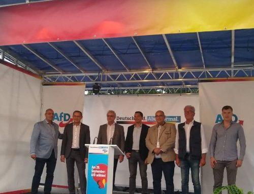 Auftaktveranstaltung der AfD zur Bundestagswahl 2021 in Ingolstadt